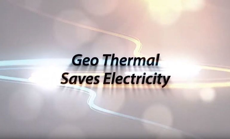 Geo saves electricity