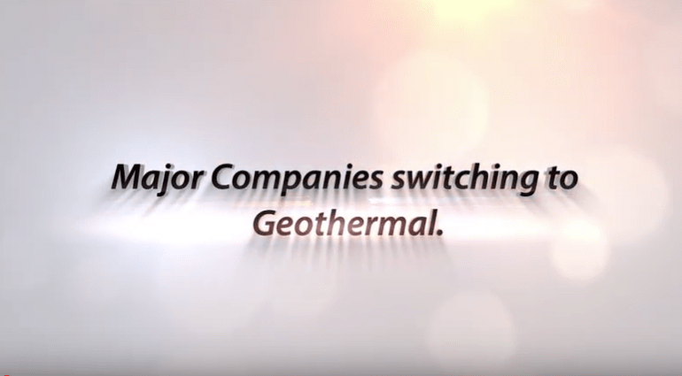 Major Companies switching to Geothermal